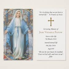 prayer cards for funerals funeral prayer cards hail zazzle