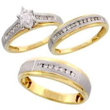 gold wedding ring sets wedding rings sets for women and men rikof
