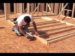 how to build a floor for a house framing and building a wall