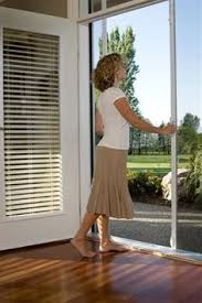 Mirage doors can be installed virtually anywhere This image shows