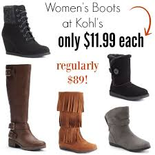 womens boots at kohls kohl s s boots 11 99 each reg 89 boots 8 99
