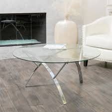 Glass Coffee Table Online by Round Glass Top Metal Coffee Table Free Shipping Today