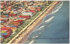 Map Virginia Beach by Aerial View Ocean Front Hotels Virginia Beach Va Digital
