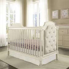 Convertible Crib White by Dorel Living Monbebe Corrine Upholstered 3 In 1 Convertible Crib