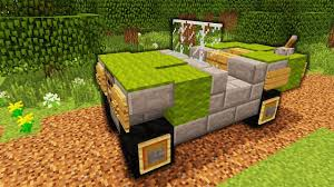 Minecraft How To Make A Furniture by Minecraft How To Make An Army Jeep Tutorial Youtube
