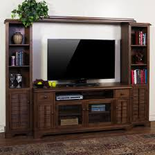 Wall Mounted Tv Cabinet With Doors Furniture Rustic Gray Brown Pine Entertainment Wall Unit By