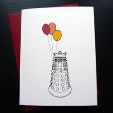 doctor who congratulations card illustrated dr who dalek birthday or congratulations card by
