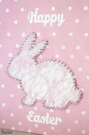 diy string art tutorial easter bunny darice