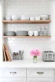 open shelves for kitchen