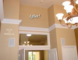 How To Frame A Bathroom Mirror With Crown Molding How To Install Crown Molding On Vaulted Or Cathedral Ceilings