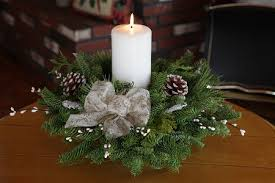 candle centerpiece winter elegance pillar candle centerpiece christmas centerpiece
