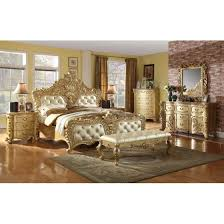 bedroom sets traditional style meridian zelda king size bedroom set 6pcs in rich gold traditional