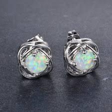 opal earrings stud opal earrings ebay