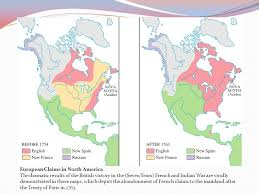 america map before and after and indian war american revolution background ppt