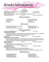 Samples Of A Good Resume by A Good Resume Resume Templates