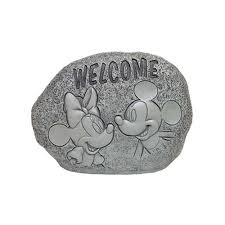 your wdw store disney garden decor welcome rock mickey and
