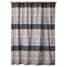 Shower Curtain Blue Brown Curtains Ideas Brown And Grey Shower Curtain Inspiring