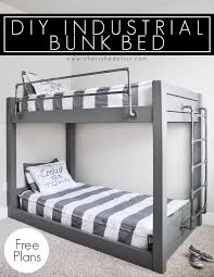 Bed Rail For Bunk Bed Diy Industrial Bunk Bed Free Plans Industrial Bunk Beds Bunk