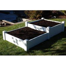 Raised Planter Beds by Dura Trel 4 X 8 Rectangle Split Level Raised Planter Bed Raised