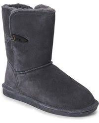 ugg womens lyla boots charcoal ugg ugg lyla boot charcoal size 9 in gray lyst