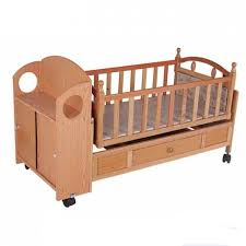 Baby Bed Crib Customized Wooden Automatic Baby Swing Bed Crib Baby Sleeping