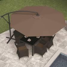 Patio Umbrella Table by Corliving Corliving Offset Patio Umbrella By Oj Commerce Ppu 450 U