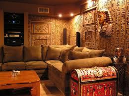 egyptian themed bedroom egyptian tomb home theater photos media family room pinterest
