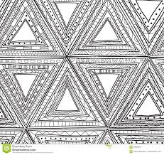 seamless black and white pattern of triangles coloring pages for