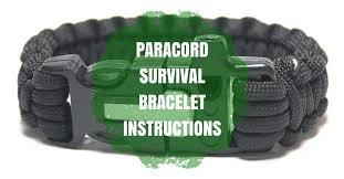 instructions survival bracelet images Paracord survival bracelet with fire starter and whistle built in jpg