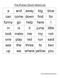word lists teaching