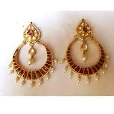 gold earrings online chand bali earrings online gold plated earring set