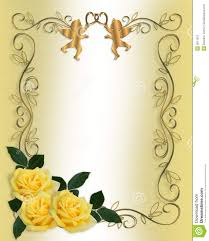wedding invitations borders yellow floral border wedding invitation yellow
