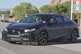 honda civic 2016 black spied 2017 honda civic si coupe tests wearing minimal camo