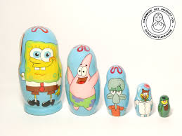 Spongebob Room Decor by Nesting Dolls Spongebob Squarepants Matryoshka Doll 5pcs 11
