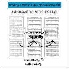 with metric centimeter millimeter ruler differentiated worksheets