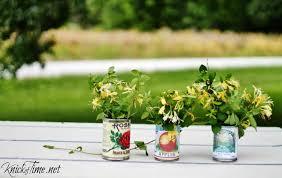 Tin Flower Vases Tin Can Vases Knickoftime Net