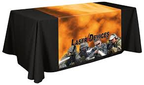 Trade Show Table Runner Best Source For Imprinted Table Covers And Custom Throws In Miami