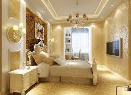 gypsum ceiling room decor full design with bedside wall lamp and