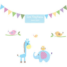 personalised baby boy wall stickers by parkins interiors personalised baby boy wall stickers