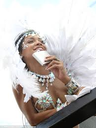 His And Her Flasks Rihanna Sips Hip Flask And Dances In Bejewelled At Barbados