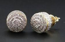 real diamond earrings for men 10k yellow gold diamond earrings studs for men ebay