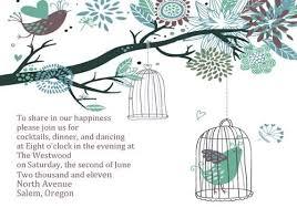Tree Wedding Invitations Fascinating Bird And Tree Wedding Invitations Iwi026 Wedding