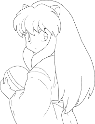free coloring pages etyho inuyasha and kagome coloring pages