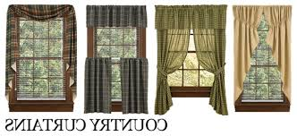 Country Kitchen Curtains Ideas Country Style Kitchen Curtains Kenangorgun Com