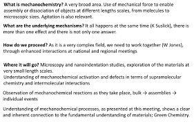 sonication and macromolecular mechanochemistry general discussion
