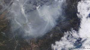 Wildfire From Space by Smoke Everywhere Nasa Photo Of Georgia Wildfires Shows The View
