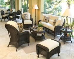 porch furniture sets black wicker patio furniture sets black black