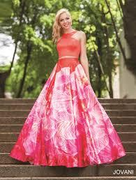 jovani prom 34034 jovani prom two piece prom dresses floral prom