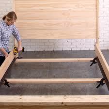 Alsa Platform Bed - flat bottom platform bed comments alsa deep brown king platform