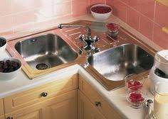 Double Sinks Kitchen by A Better Corner Kitchen Sink Great Idea Save Space Of Corners